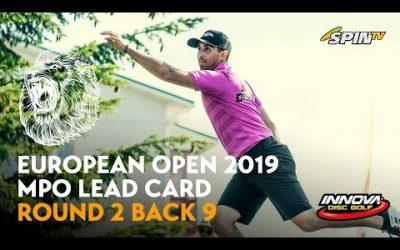 European Open 2019 MPO Lead Card Round 2 Back 9 (Nieminen, Wysocki, McBeth, McMahon)