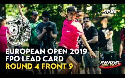 European Open 2019 FPO Lead Card Final Round Front 9 (Pierce, Blomroos, Allen, Salonen)