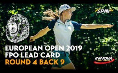 European Open 2019 FPO Lead Card Final Round Back 9 (Pierce, Blomroos, Allen, Salonen)